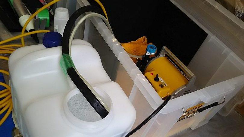 エアコンクリーニングに使用する高圧洗浄機