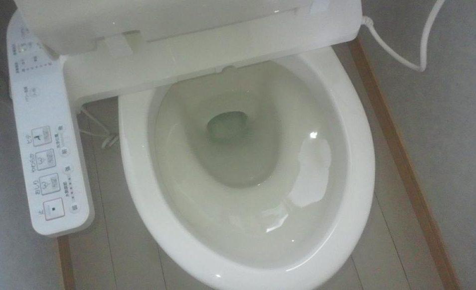 ツヤツヤのトイレの便器