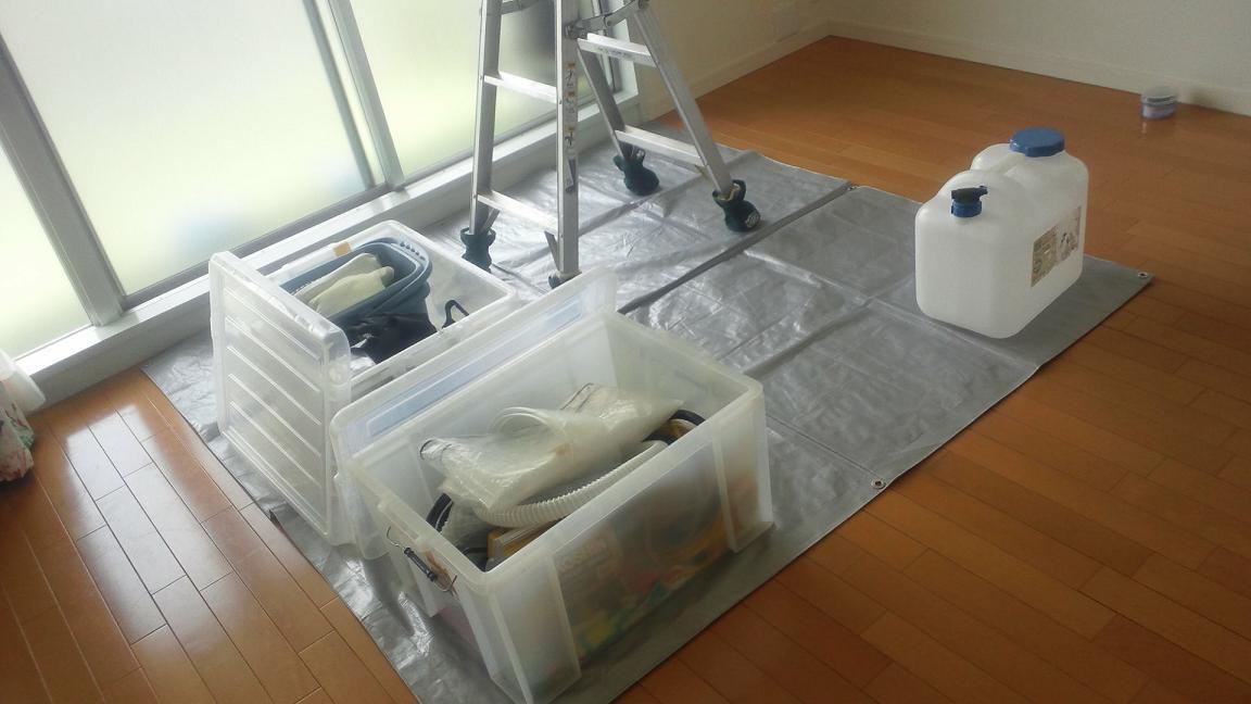 エアコン分解クリーニング作業スペース