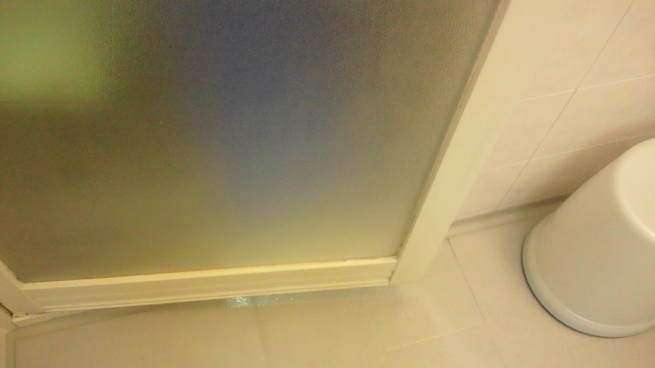 キレイになった浴室のドア