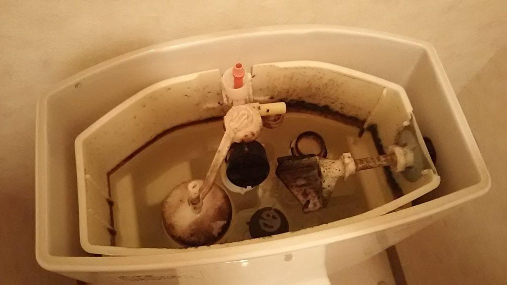 トイレタンク内の汚れ