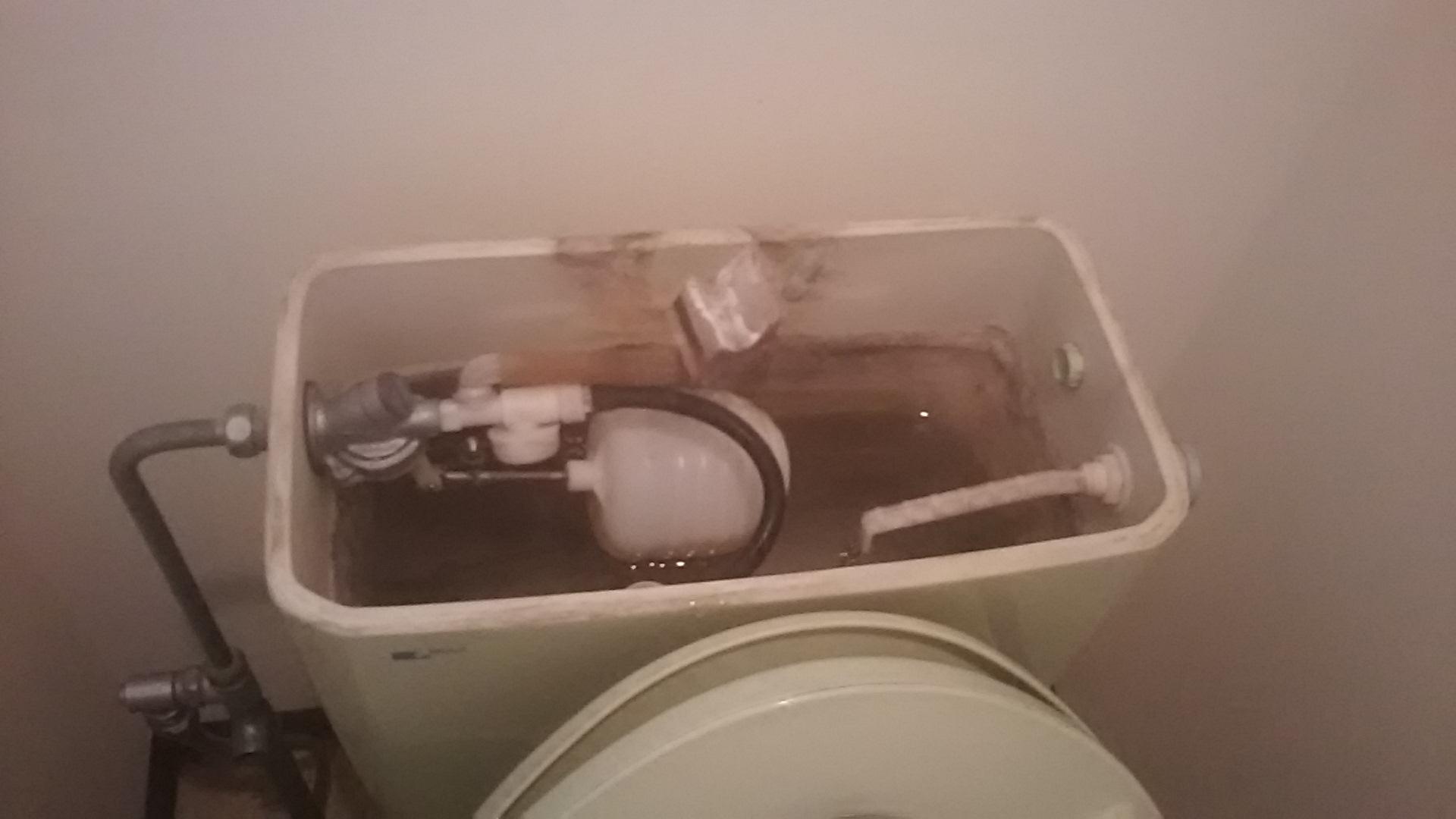 トイレのタンク内部