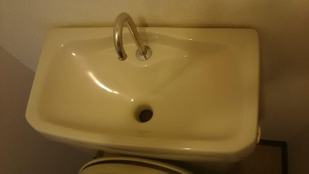 キレイになった手洗い部分