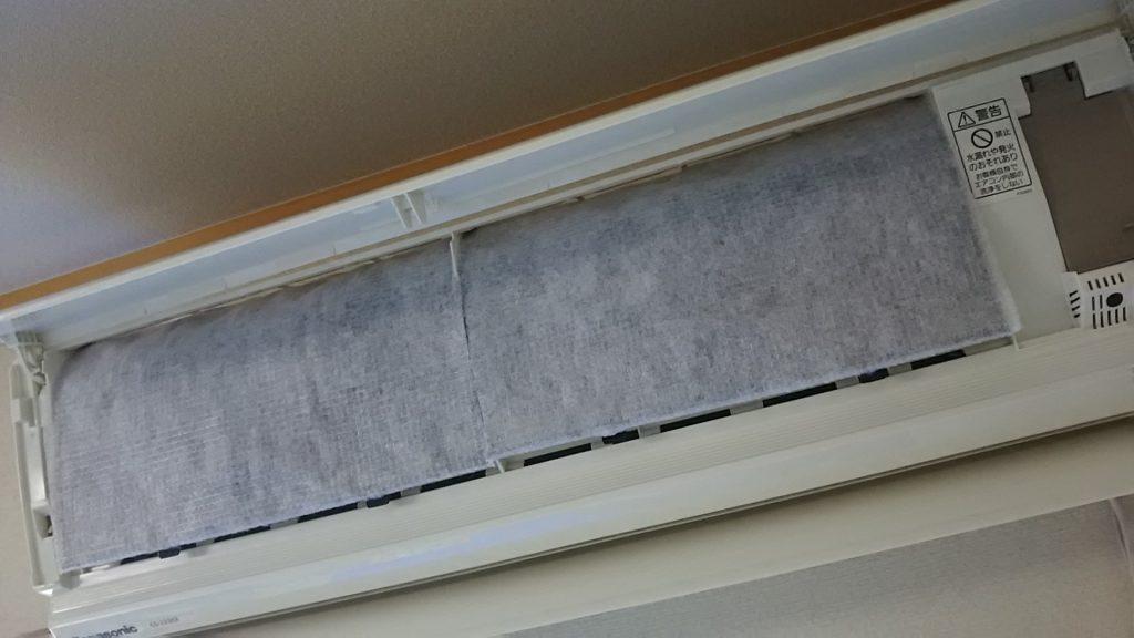 エアコンフィルターの不織布