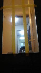 鏡の汚れ落としの実験結果