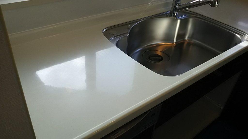 キッチン天板の研磨後