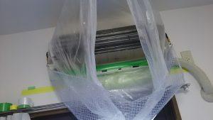 エアコン本体の高圧洗浄