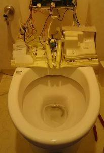 トイレのウォシュレゥト分解清掃