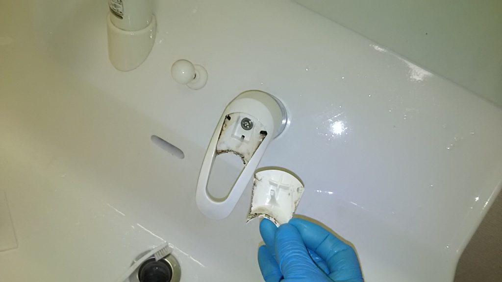 洗面蛇口の部品