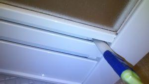 浴室ドア下部での刷毛利用