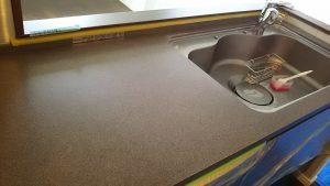 研磨後のキッチン天板