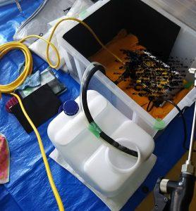 エアコンに使用する高圧洗浄機