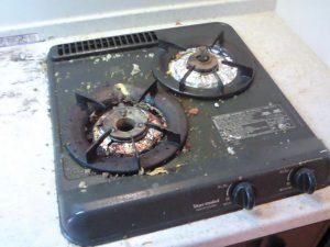 ワンルームのキッチン汚れ