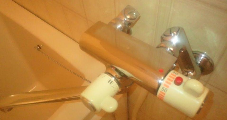 ピカピカになった浴室の蛇口