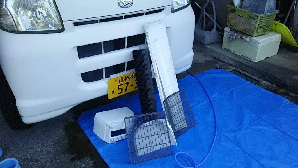 シャープお掃除エアコン 分解クリーニング 小牧