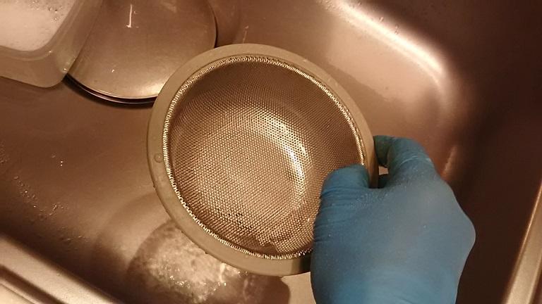 洗浄後のキッチンブリーチ