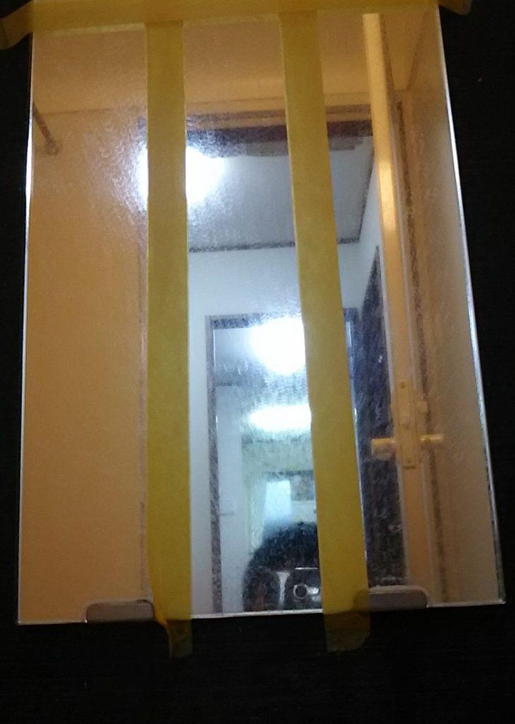 家事えもん 浴室鏡 ウロコ汚れ クエン酸 ナチュラル洗剤 重曹 セスキ炭酸ソーダ 過炭酸ナトリウム 湿布法 サランラップ