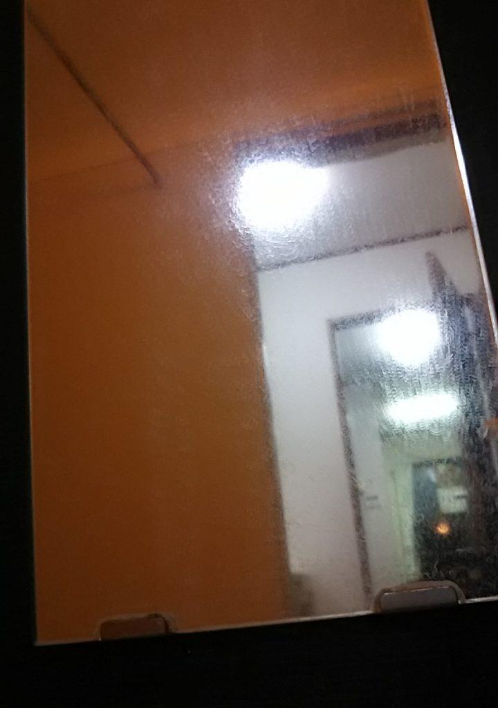 清掃前の浴室鏡