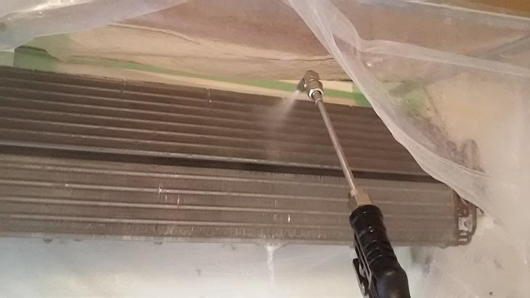 熱交換器本体は高圧洗浄
