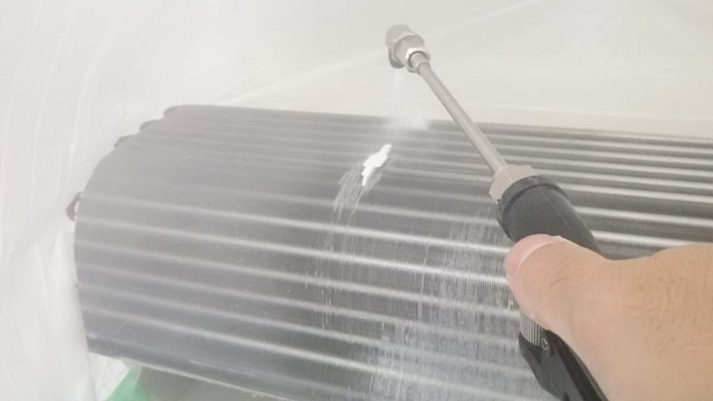 熱交換機の高圧洗浄