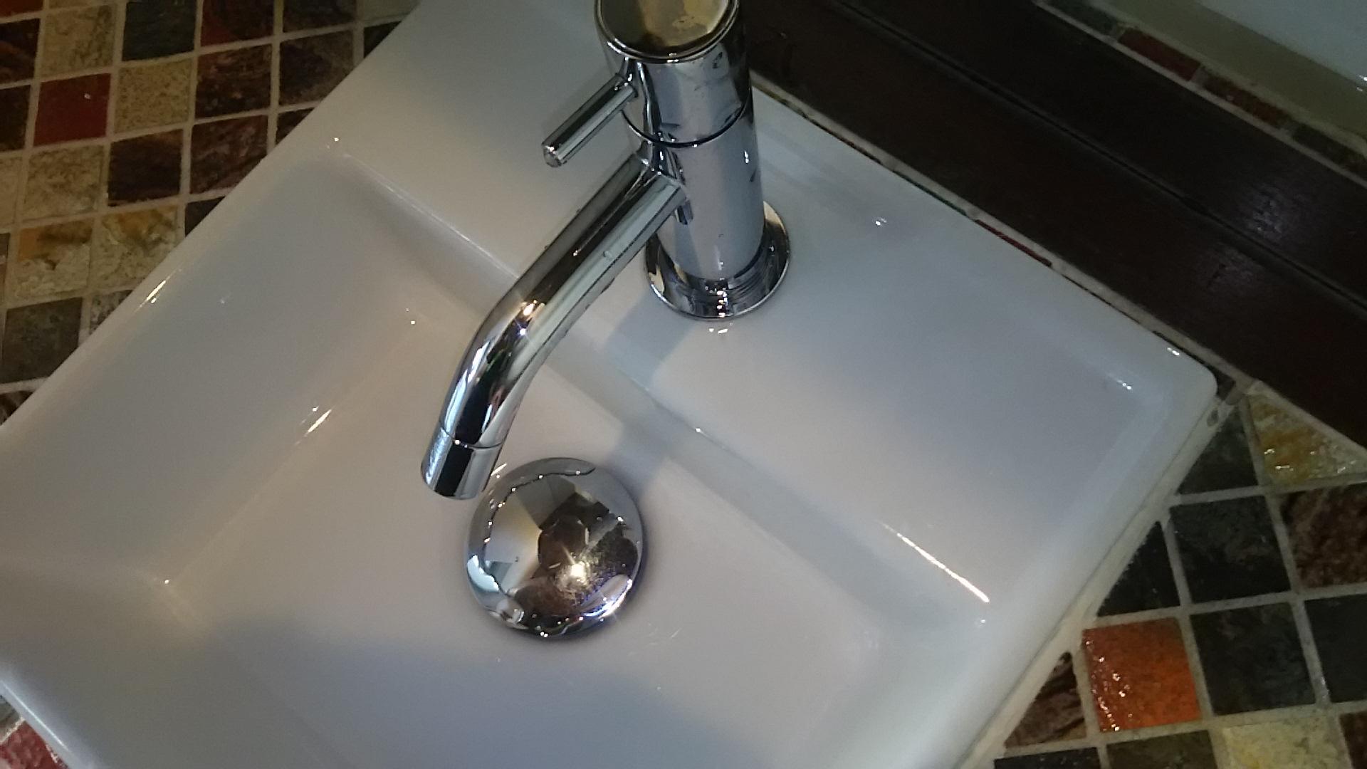 洗面ボールの排水栓