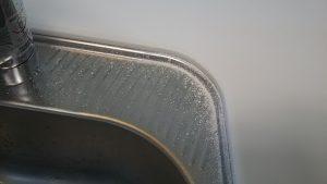 天板の削った粉
