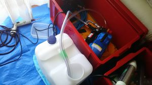 エアコンを高圧洗浄機で洗浄