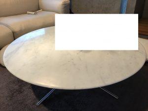 大理石テーブルの研磨