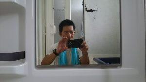 浴室の鏡磨き後
