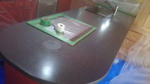 名古屋市でキッチン人工大理石の研磨