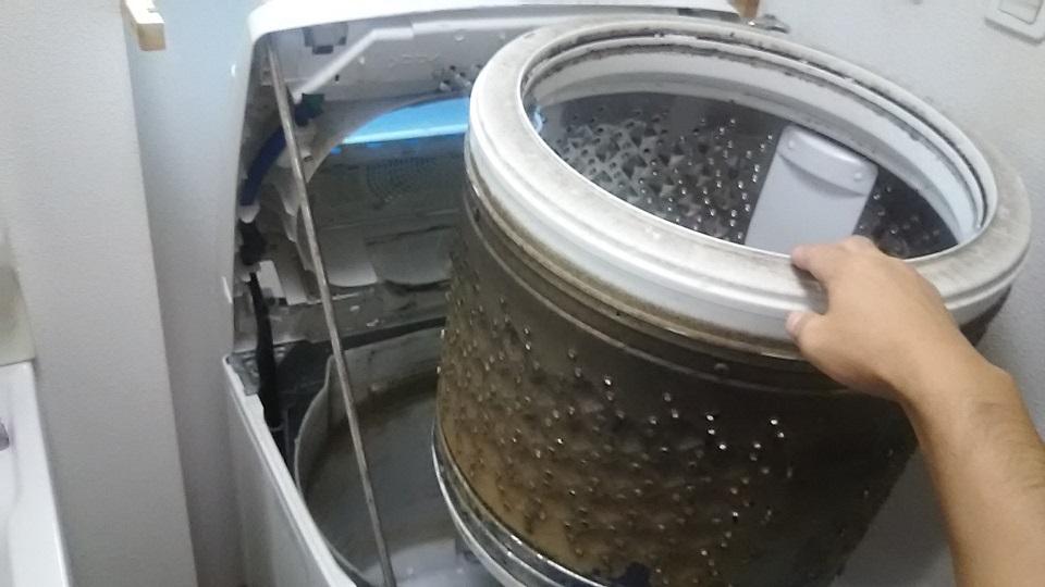 洗濯機 洗濯槽 ドラム 分解クリーニング洗浄