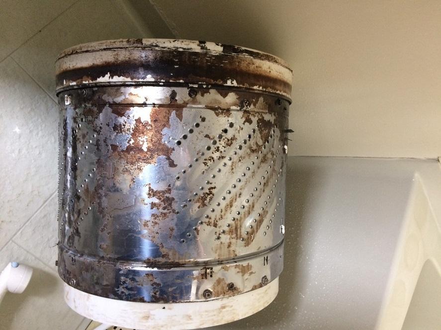 洗濯ドラムの汚れ 分解クリーニング業者 洗浄 おそうじ本舗