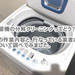 洗濯機分解クリーニングのおすすめ業者はどこだろう?そんな疑問にお答えします!