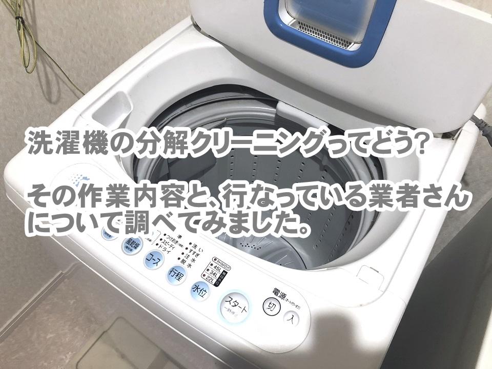 洗濯機の分解クリーニング業者 作業内容