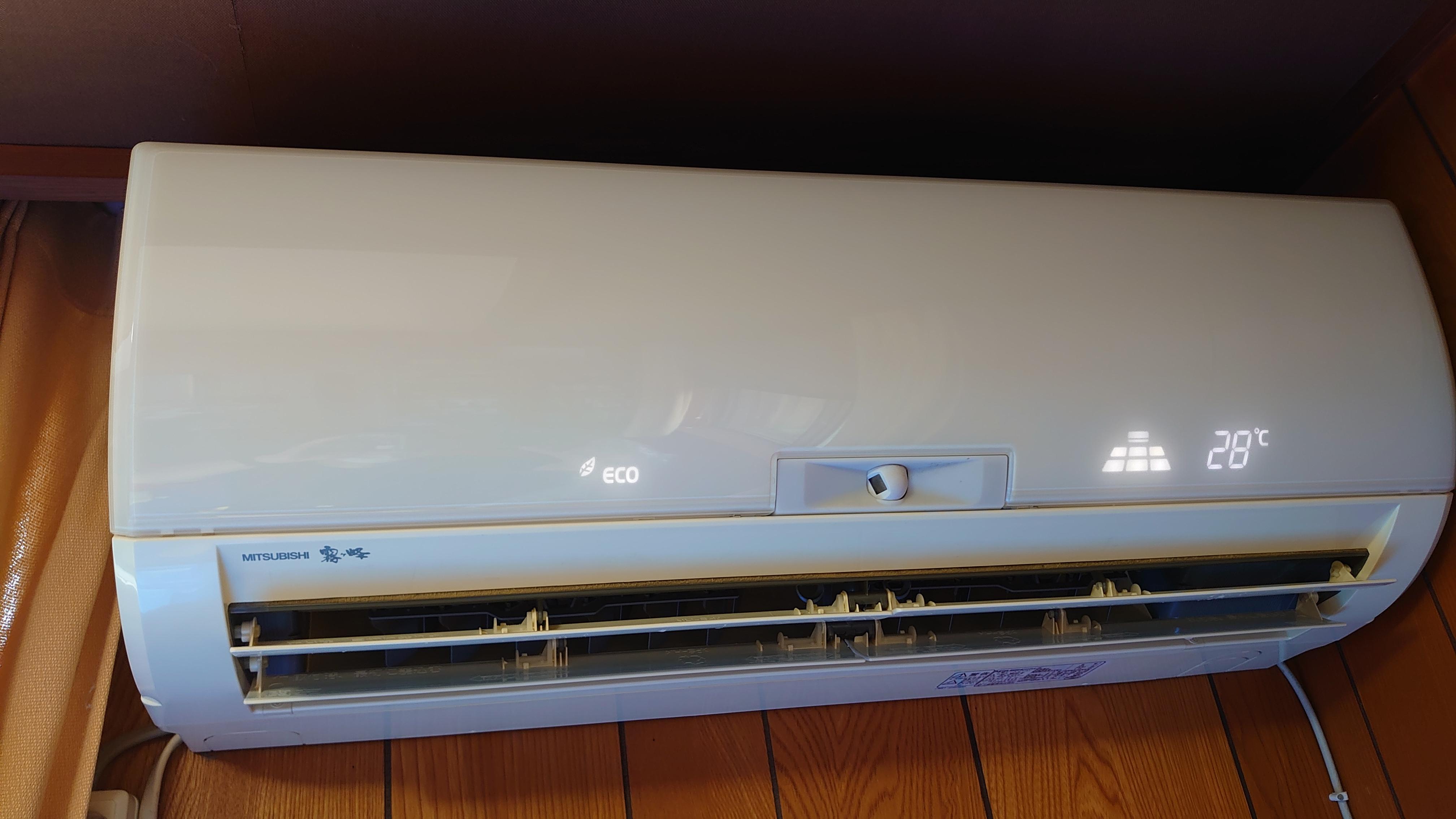 エアコン正面の写真
